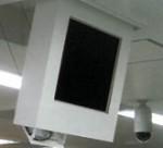 モニタ収納機構装置